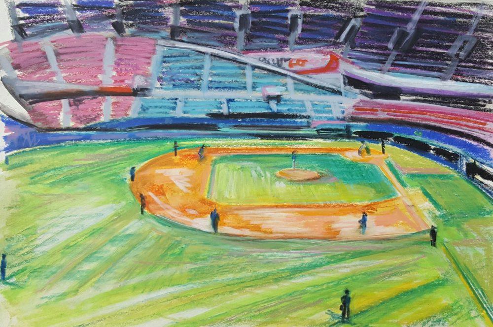 нарисовать стадион в картинках деталью